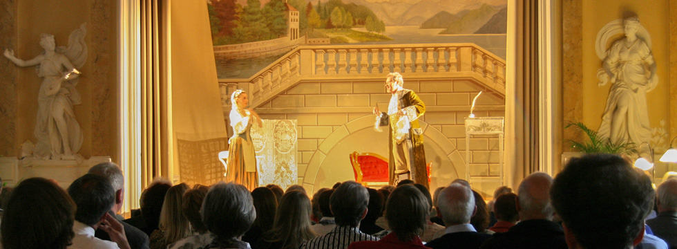 Teleman Oper · Spiel auf der Bühne des Theatersaals