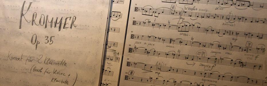 Adventsdinner-2012 Noten Franz Kromma Opus 35